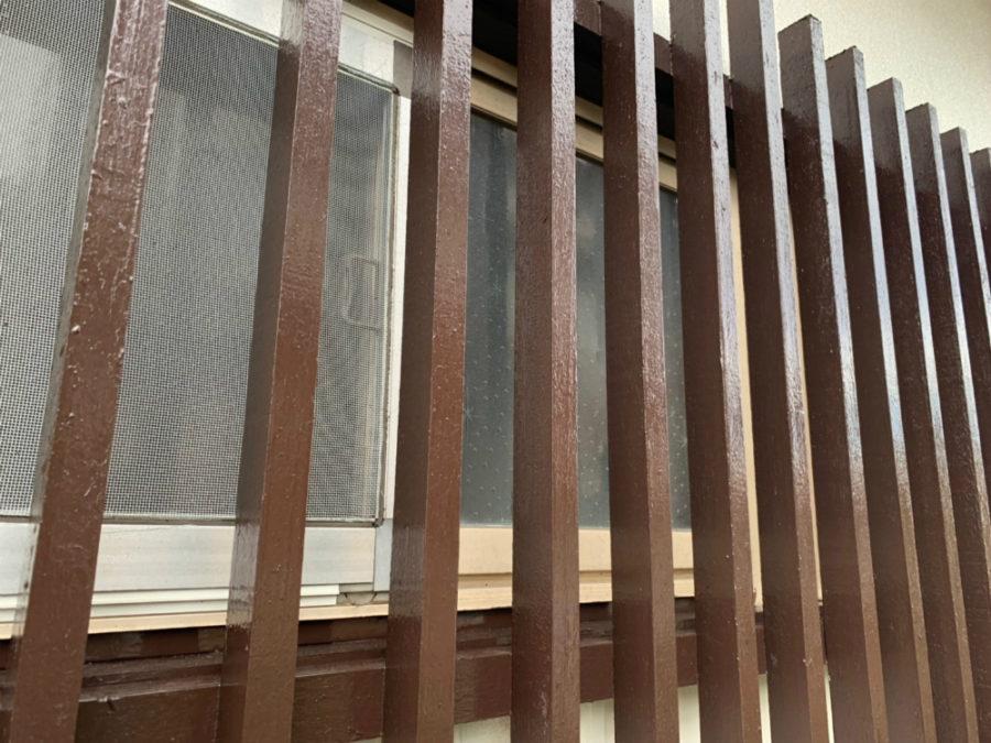 愛知県の外壁塗装工事の格子の塗装後