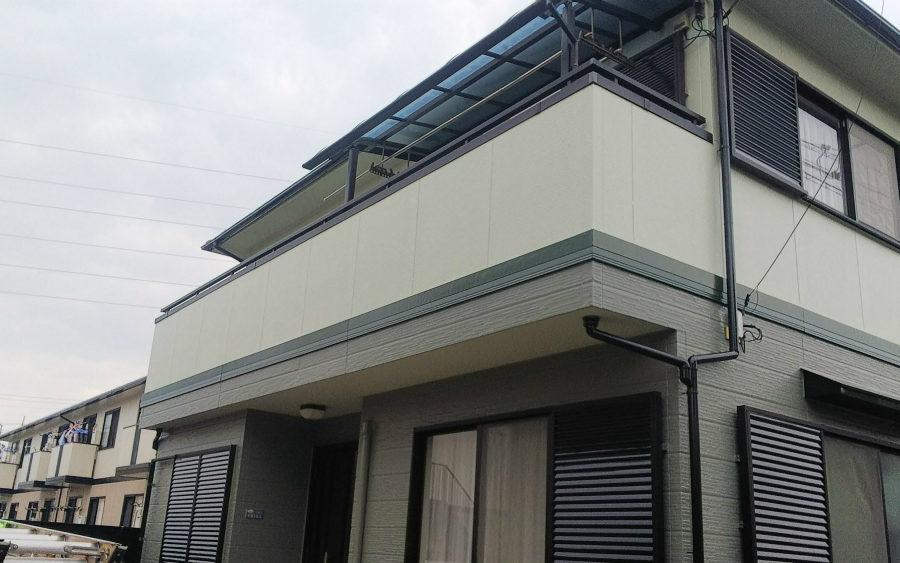 愛知県の外壁塗装工事のバルコニーの塗装後の写真