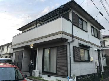 愛知県の外壁塗装工事の施工前の全体写真