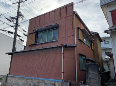 愛知県豊田市の外壁塗装工事の施工前の写真