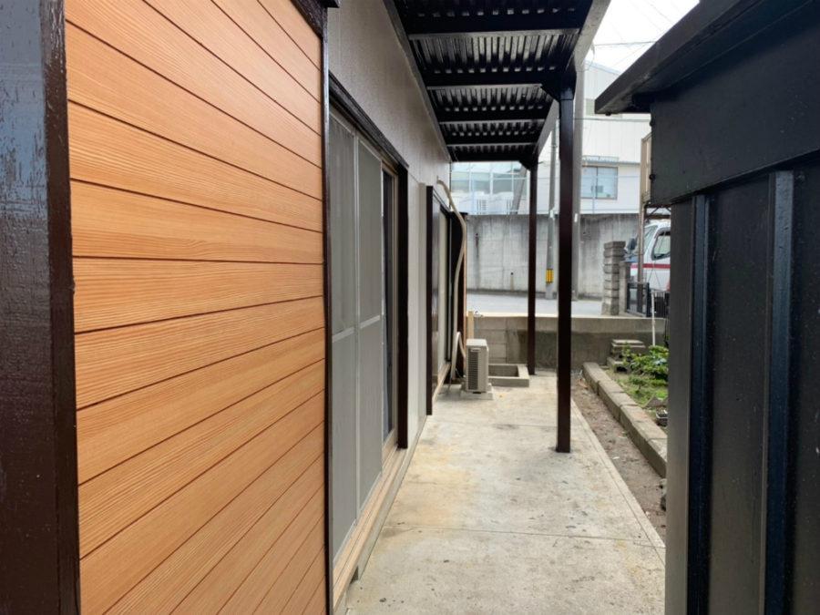 愛知県の外壁塗装工事の木部塗装後