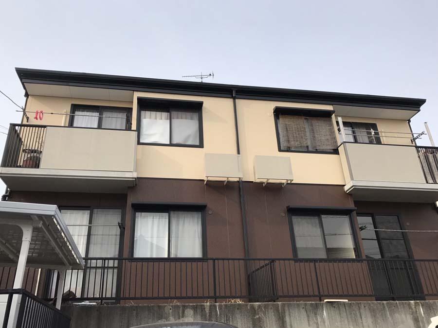 岐阜県可児市の外壁塗装工事の塗装後の写真