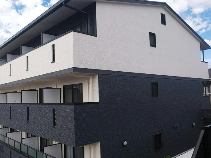 愛知県あま市の外壁塗装工事の塗装後の写真