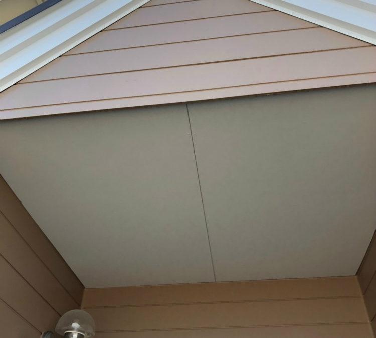 愛知県の外壁塗装工事の軒天の塗装後