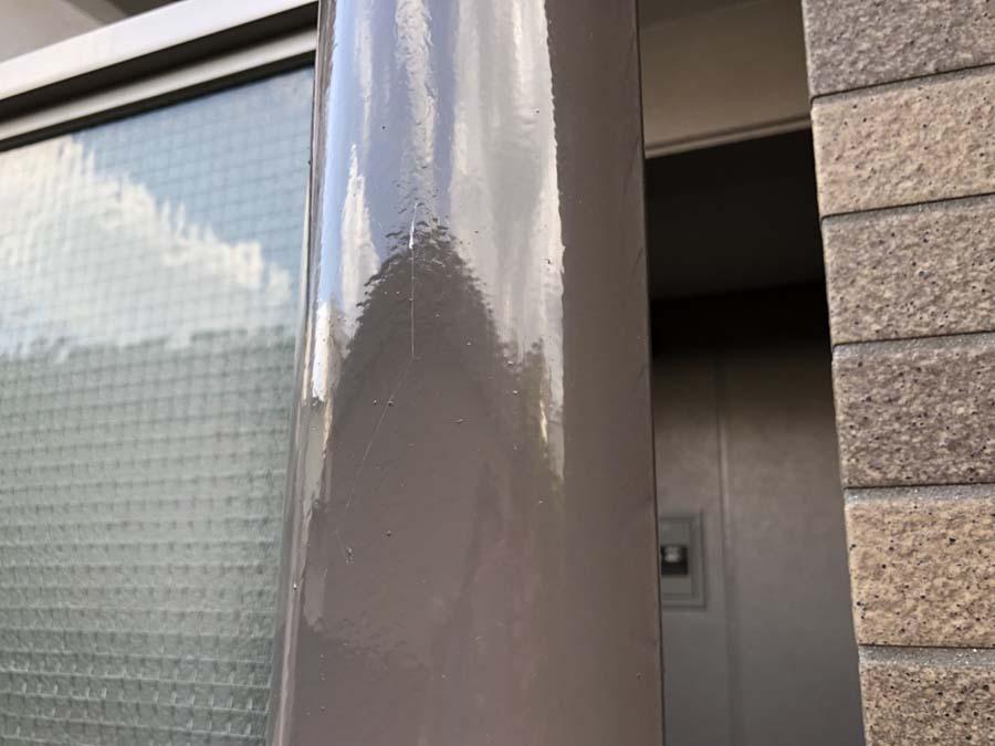 愛知県一宮市の外壁塗装工事の仕切り板の柱の塗装後