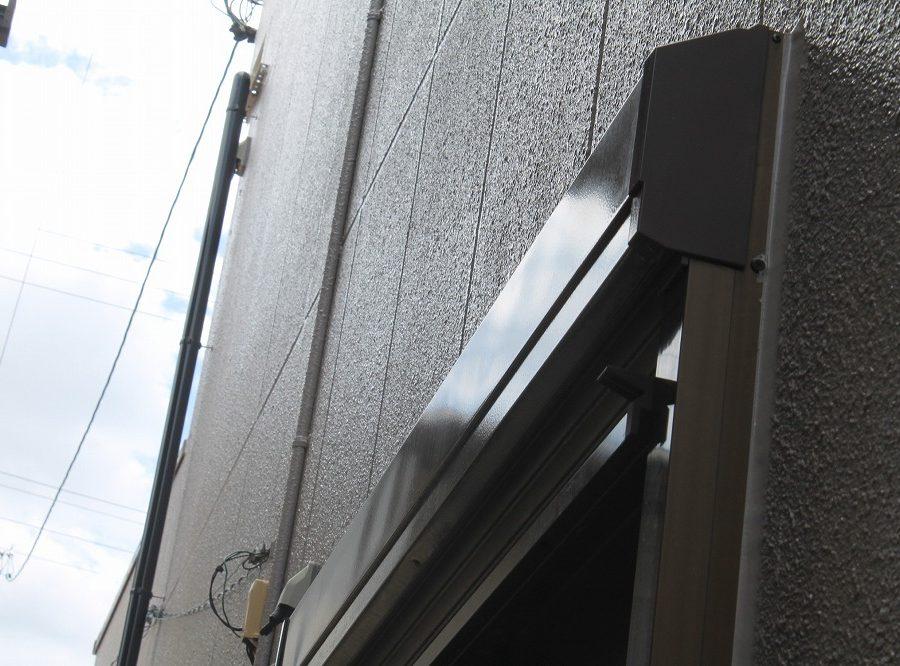 外壁塗装工事のシャッターの塗装後の写真