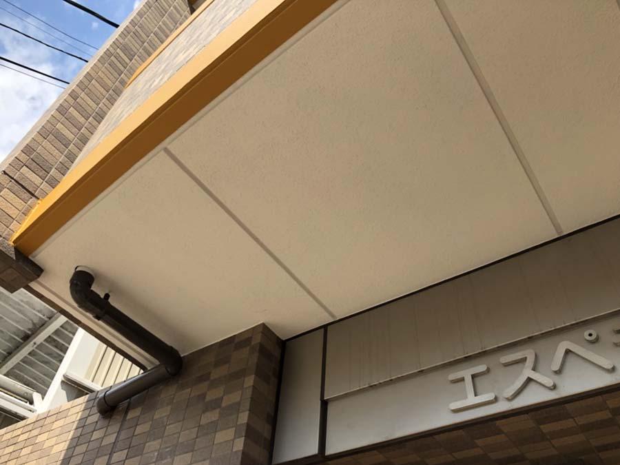 愛知県一宮市の外壁塗装工事の軒天の塗装後